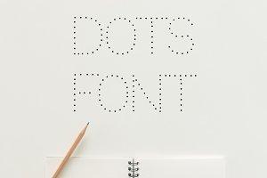 Dots Display Font