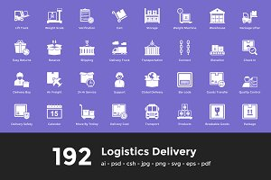 192 Logistics Delivery Vector Icons