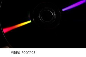 Refraction of light. Compact disk.