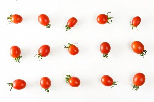 Collection cherry tomatoes