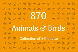 870 Animals and Birds Silhouette