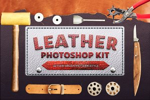 Photoshop Leather Kit