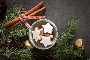 Ginger honey gingerbread cookies for