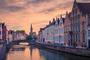 Brugge evening cityscape