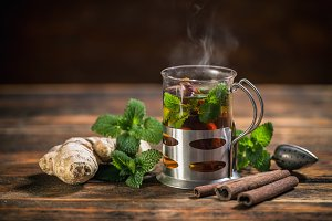 Cup of herbal tea