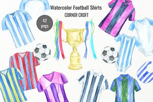 Watercolour Football Shirt Clipart