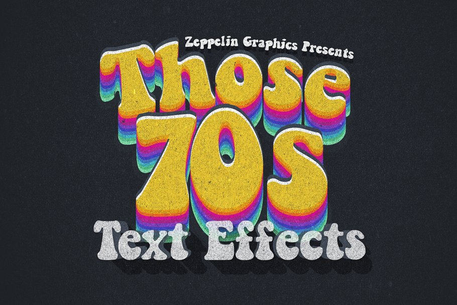 70s Text Effects For Photoshop Layer Styles Creative Market