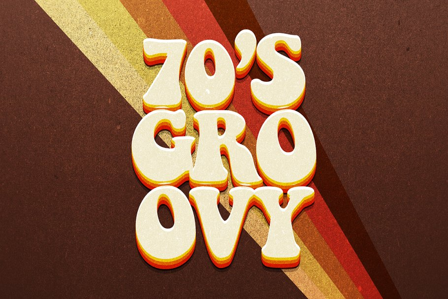 70s Text Effects For Photoshop Layer Styles Creative Market Pro