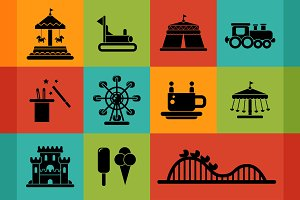 Amusement Park Pictograms