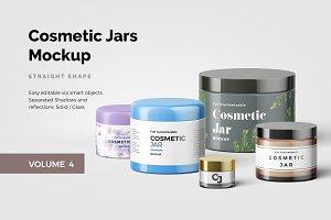 Cosmetic Jars Mockup