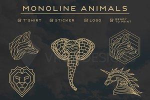 MONOLINE ANIMALS BUNDLE V.2