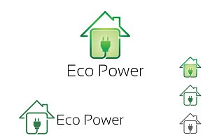 Green Electricity House Tech Logo