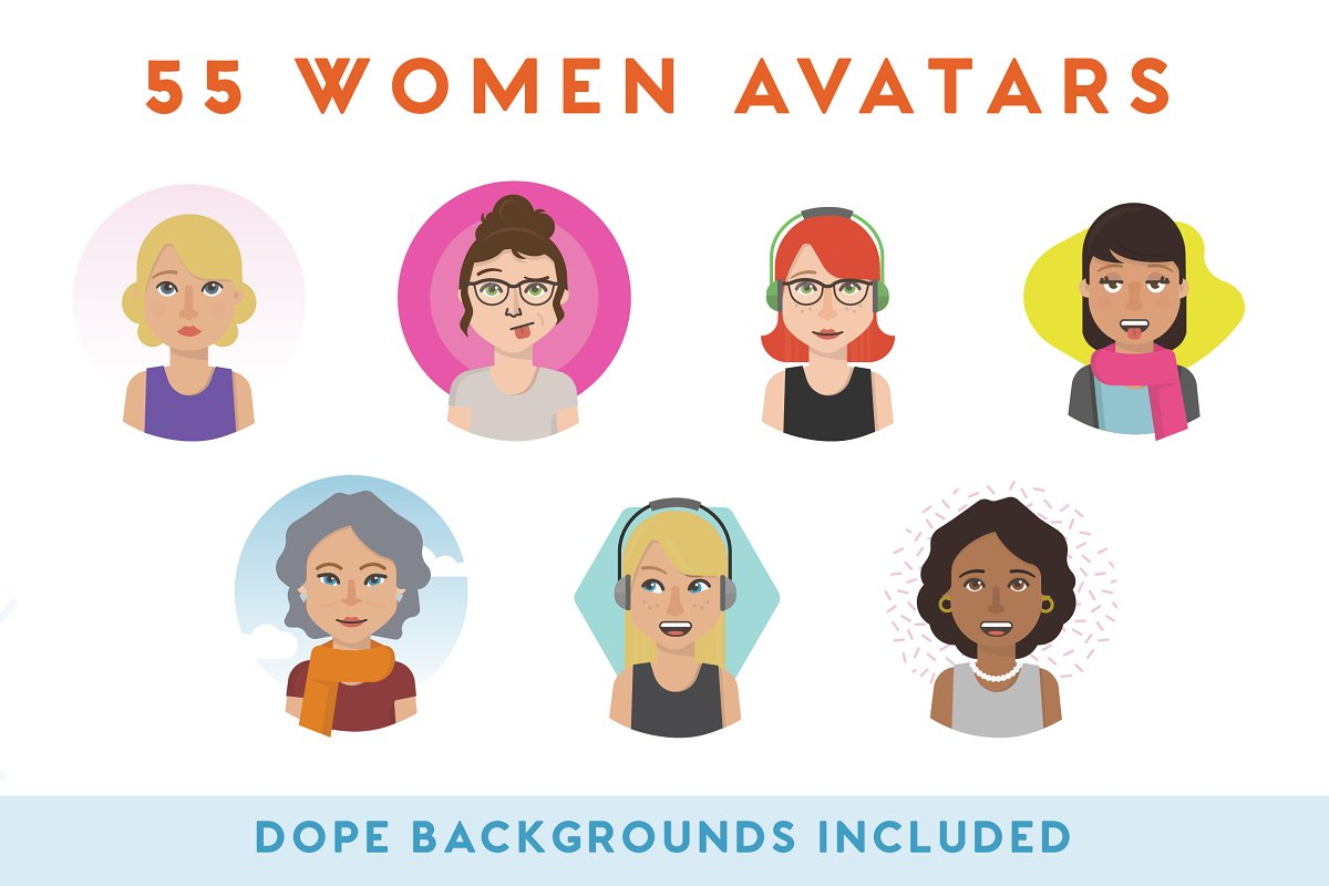 100+ Vector Avatars in Illustrations - product preview 1