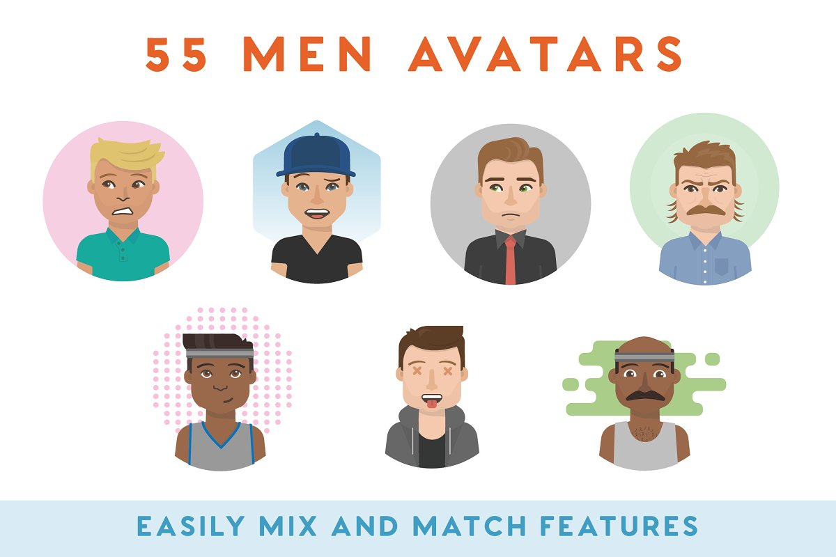 100+ Vector Avatars in Illustrations - product preview 2