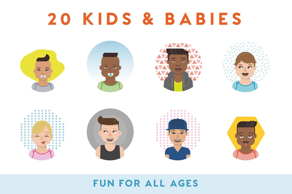 100+ Vector Avatars in Illustrations - product preview 3