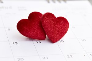 Calendar to Valentines day
