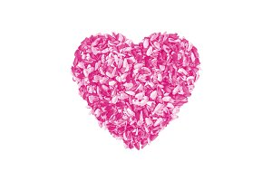 Valentine's Day pink heart isolated