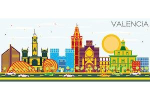 Valencia Spain City Skyline