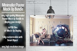 Minimalist Poster Mock Up Bundle