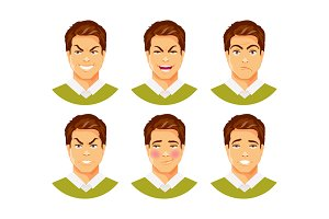 Man emotions vector