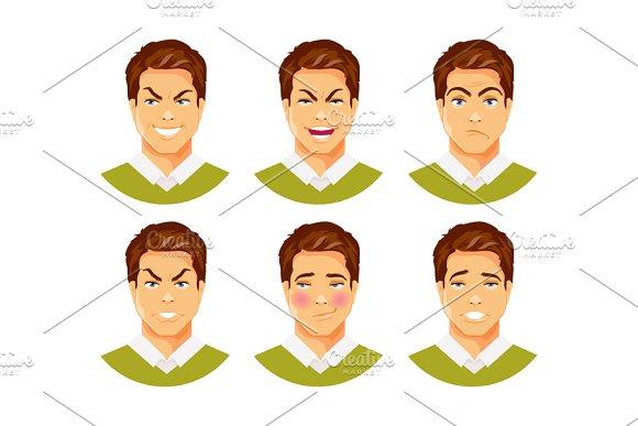 Man emotions vector