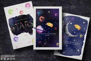 Outer space card valentines card