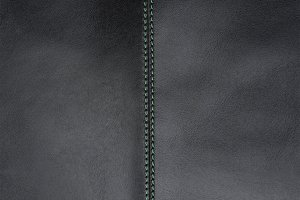 Genuine Leather, Black, Texture with