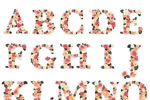 Floral Garden Alphabet Initials
