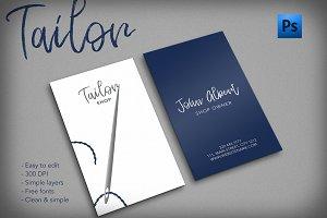 Tailor shop creative business card