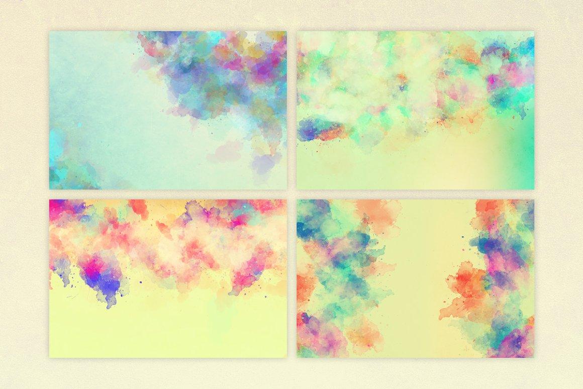 Vibrant Watercolor Textures - Textures