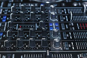 DJ console for experiments with music