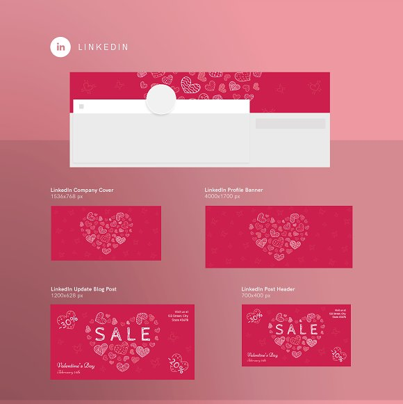 Promo Bundle | Valentine's Day in Templates - product preview 3