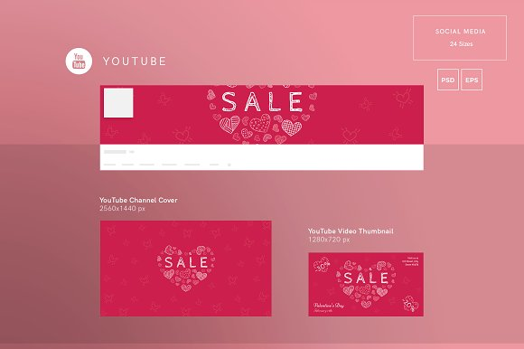 Promo Bundle | Valentine's Day in Templates - product preview 5