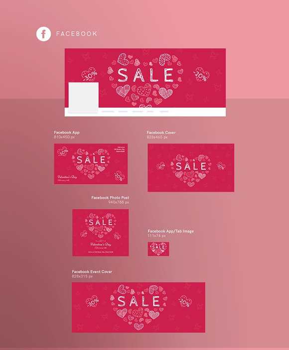 Promo Bundle | Valentine's Day in Templates - product preview 10