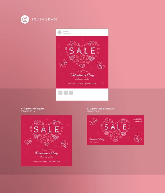 Promo Bundle | Valentine's Day in Templates - product preview 11