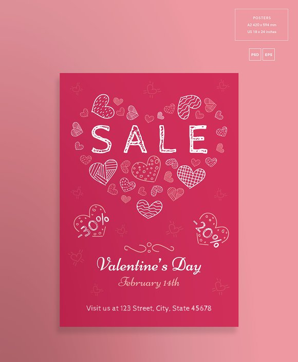 Promo Bundle | Valentine's Day in Templates - product preview 12