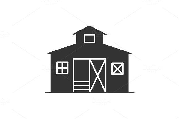 Barn glyph icon