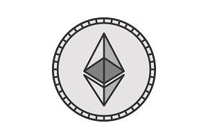 Ethereum coin color icon