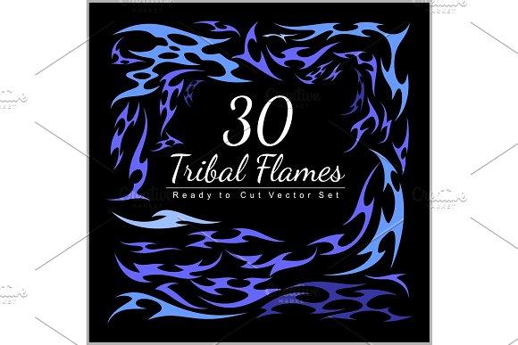 30 Tribal Flames Hot Rod Flames