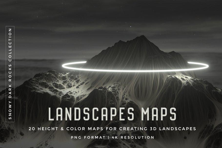 Set of 20 Landscapes maps ~ Textures ~ Creative Market