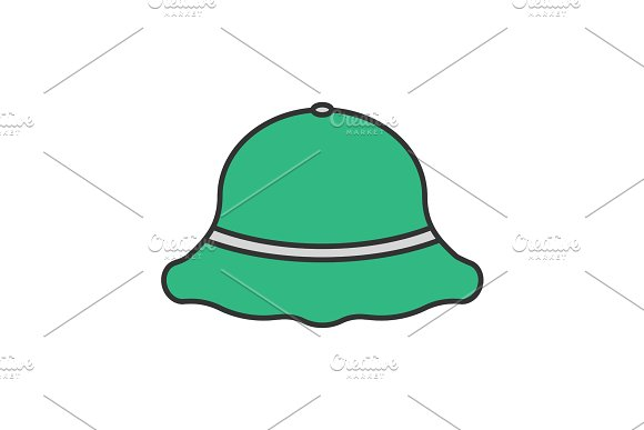 Fisherman Hat Color Icon