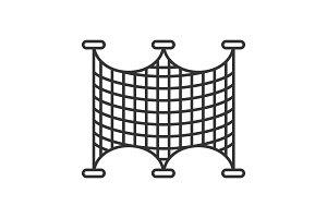 Fishing nets linear icon