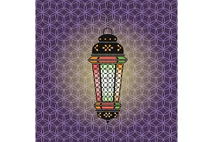 Vector Ramadan illustration with lantern