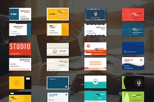 12 Business cards template.