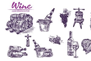 Vector bundle 10 wine set theme 1