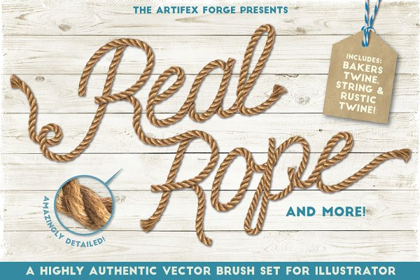 Real Rope - Illustrator Brushes