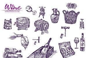 Vector bundle 10 wine set theme 2