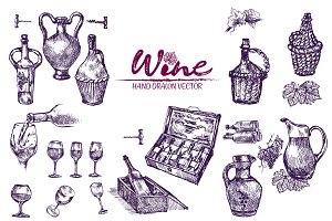 Vector bundle 10 wine set theme 4