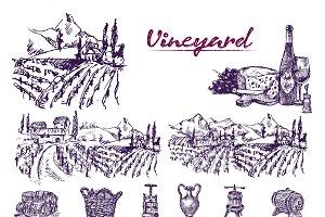 Vector bundle 10 wine set theme 6
