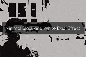 Minimal Black and White Dual Effect